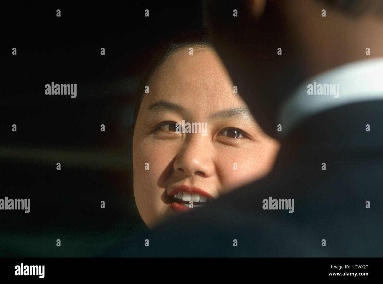 Businesswoman talking - Stock Image