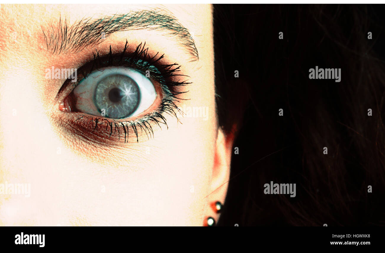 Eye closeup - Stock Image
