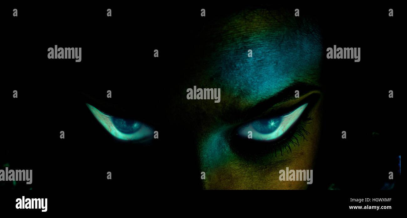 Frightening eyes - Stock Image
