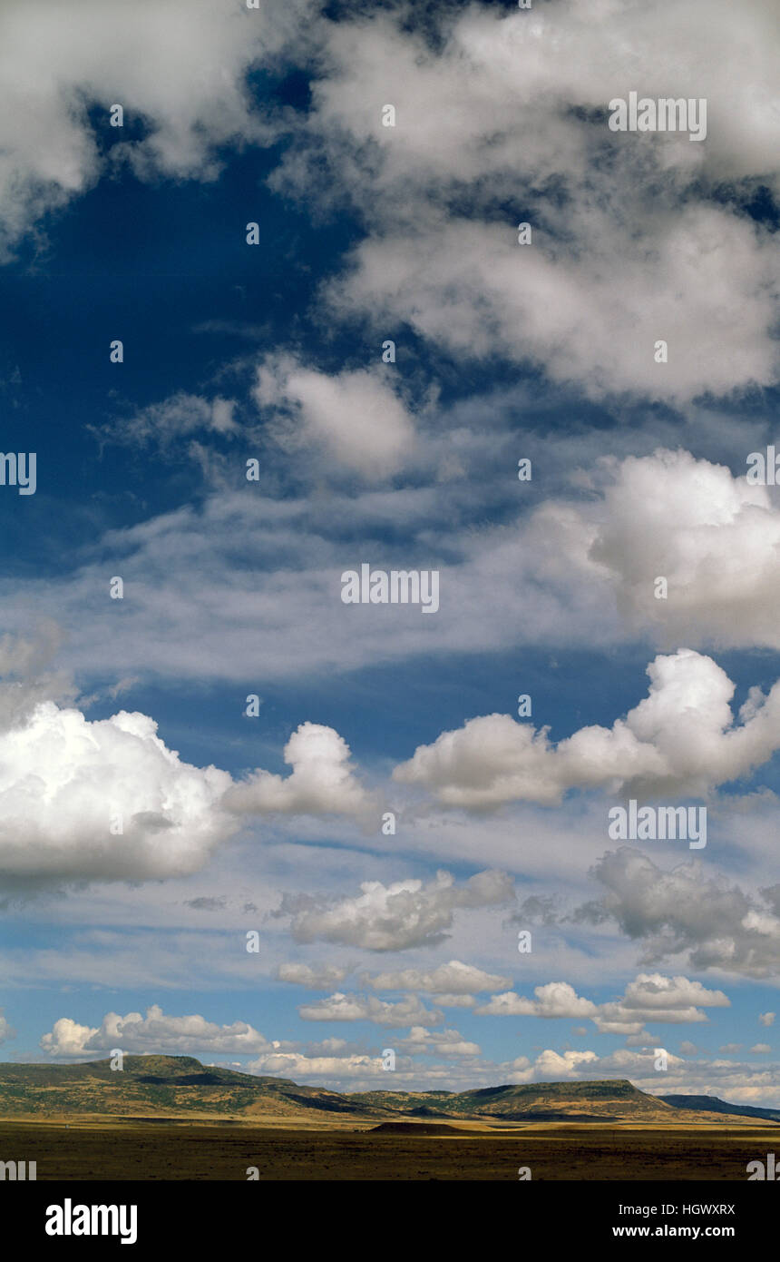 Clouds by U.S. 285 between Conifer  and Fairplay Colorado - Stock Image