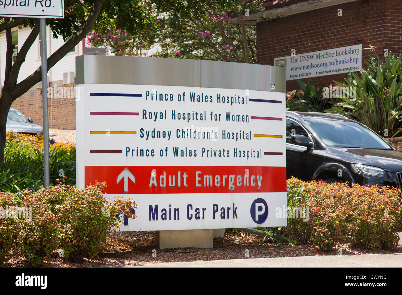 Entrance to Prince of Wales, childrens hospital,royal hospital for