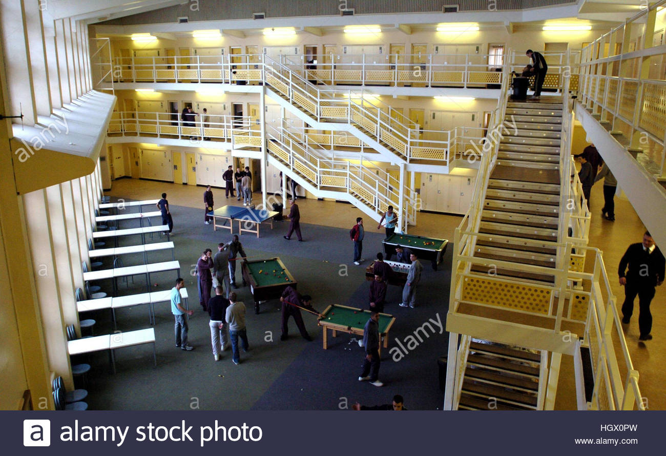 File photo dated 06/02/06 of a wing at HMP Woodhill near Milton Keynes, as inspectors have raised concerns about - Stock Image