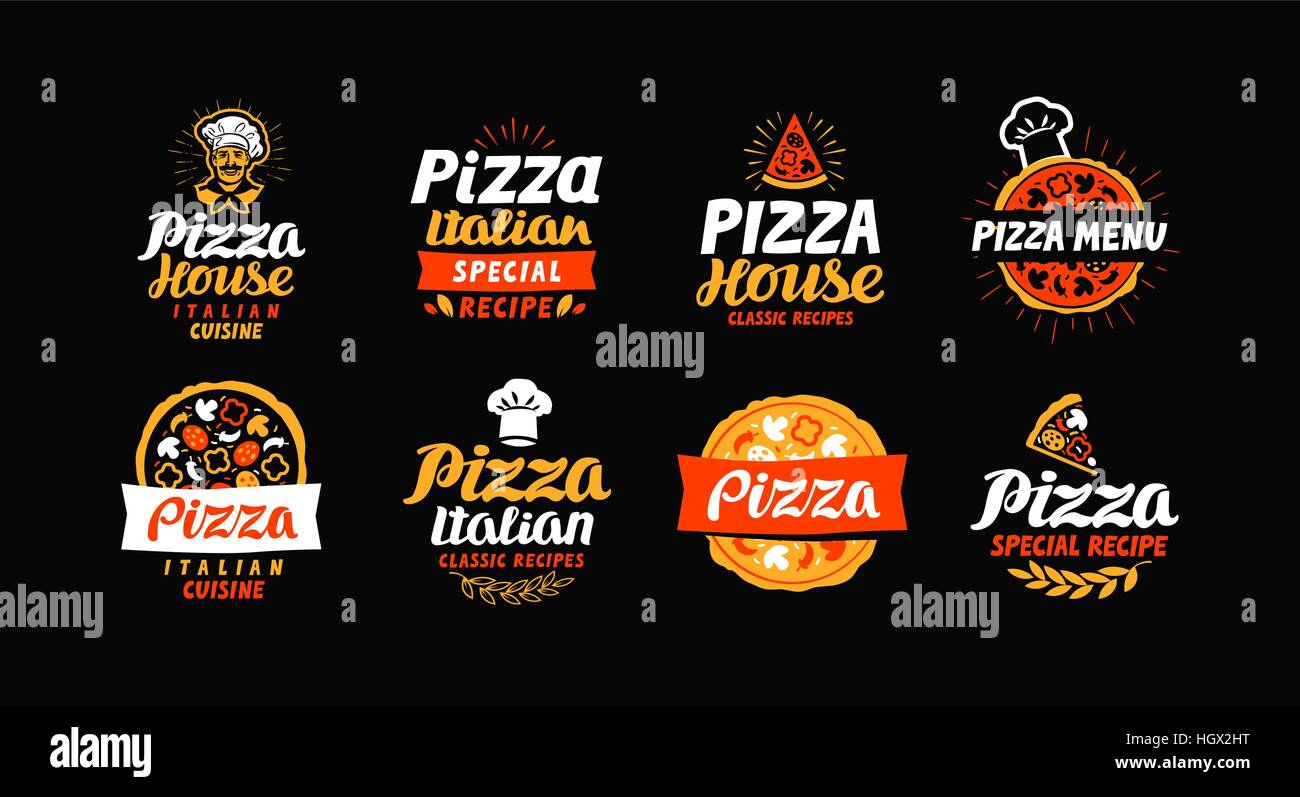 Fast Food Set Menu Yellow Gradient Background Fast Food: Italian Bistro Restaurant Stock Vector Images