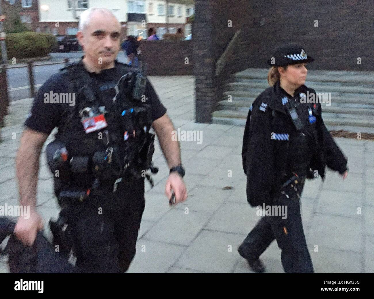 BEST QUALITY AVAILABLE Police Constables Jessica Chick and Stuart Young, who were attacked with a hammer by Afghan - Stock Image