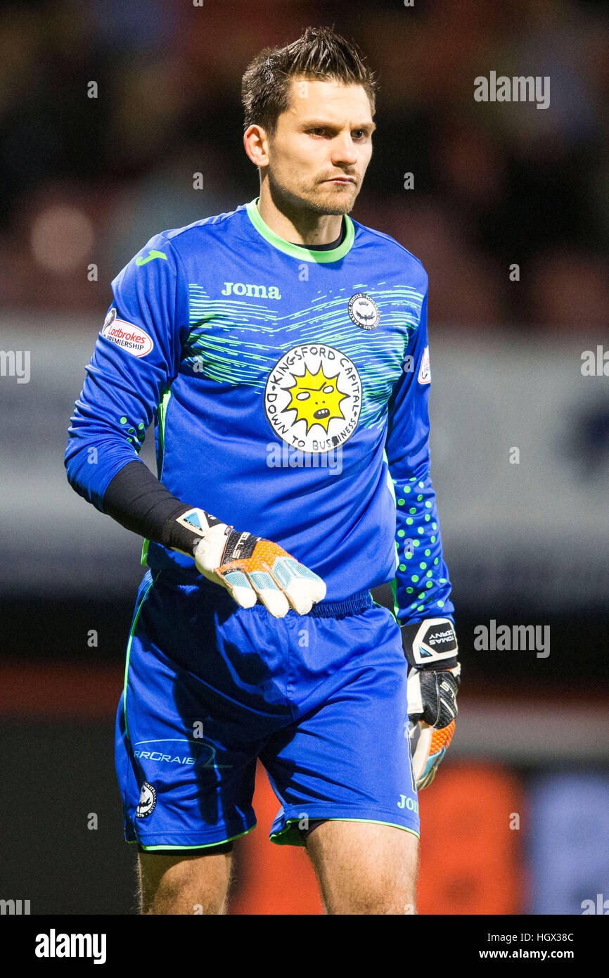 Partick Thistle goalkeeper Tomas Cerny - Stock Image