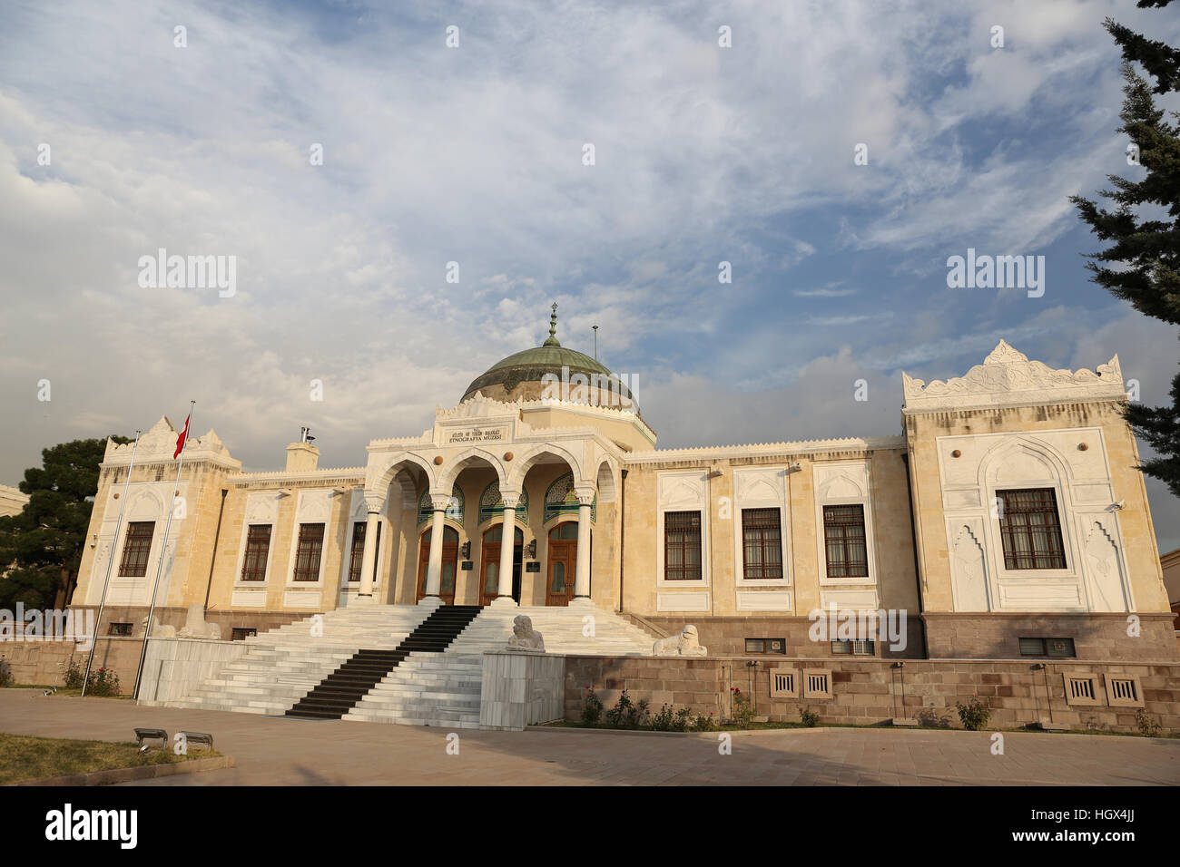 Ethnography Museum of Ankara Building in Turkey - Stock Image