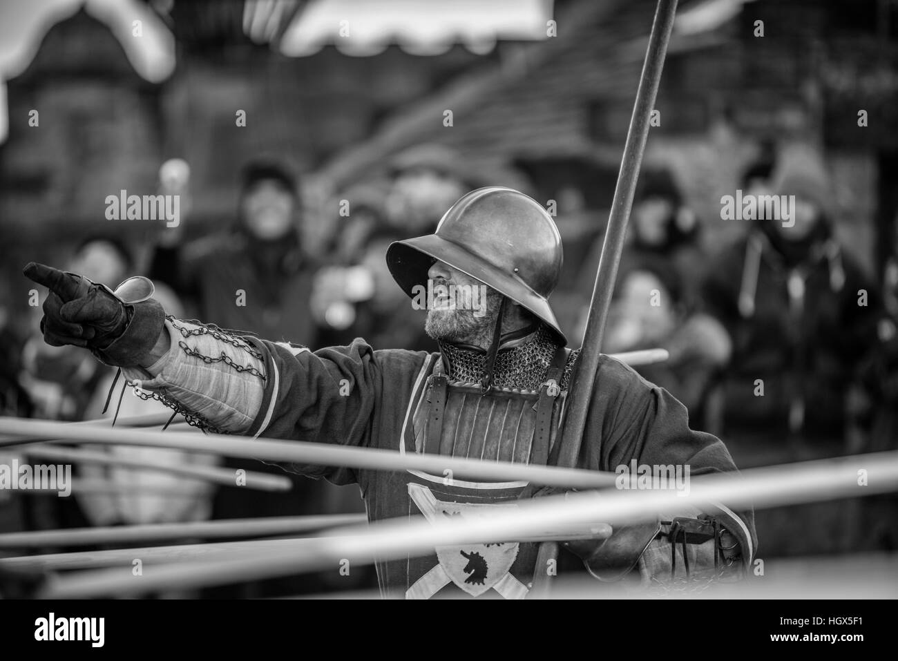 image of a medieval soldier - Stock Image