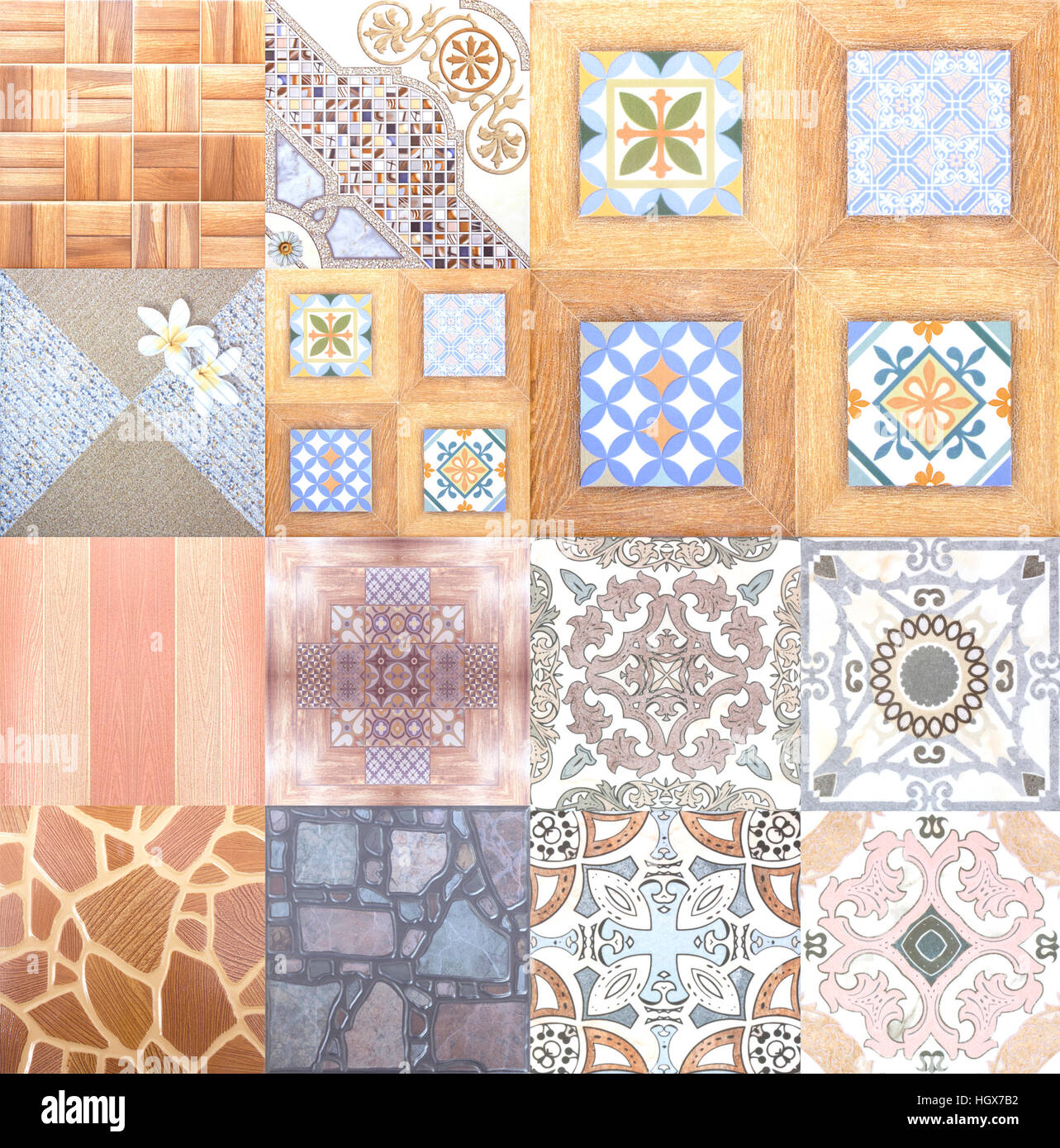Ceramic Floor and Wall Tile background building construction - Stock Image