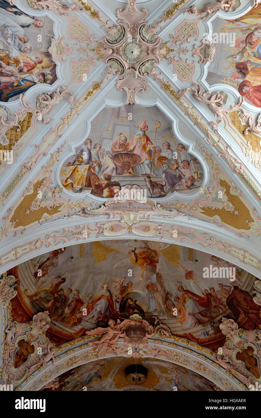 Klosterkirche, Kloster Neustift, bei Brixen, Alto Adige, Augustinerkloster, Augustinter-Chorherrenstift, Brixen, - Stock Image