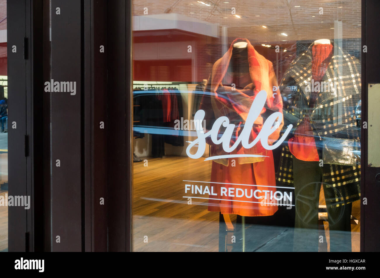 bc9f867264393 Final reduction sale at women s fashion boutique in Soho in New York City -  Stock Image