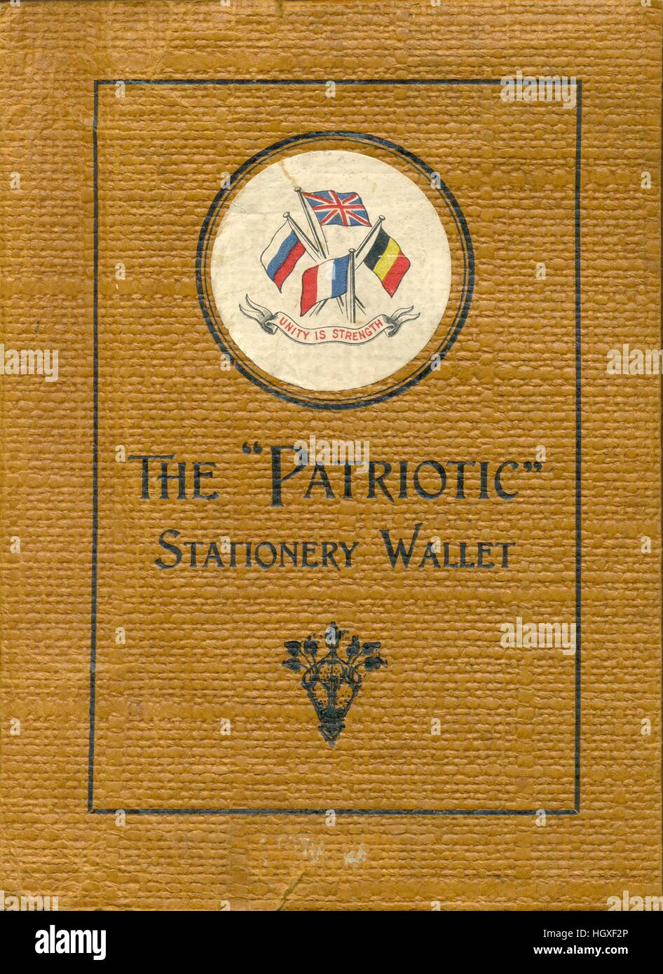 the patriotic stationery wallet a gift filled with writing paper
