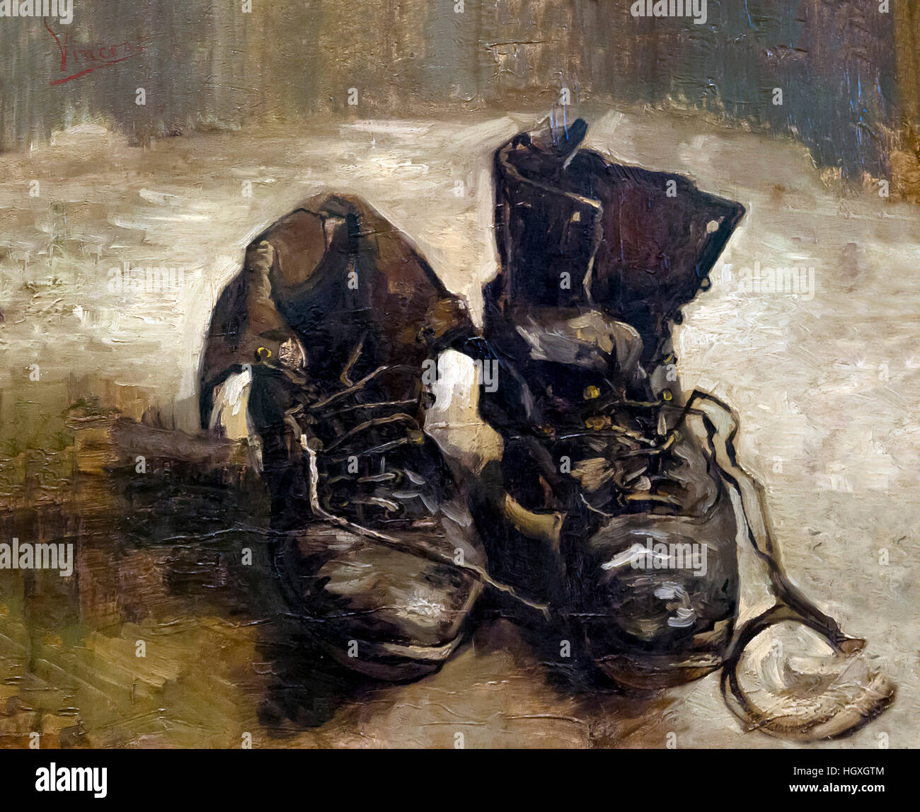A Pair of Shoes, by Vincent van Gogh,  1886, Netherlands, Europe - Stock Image