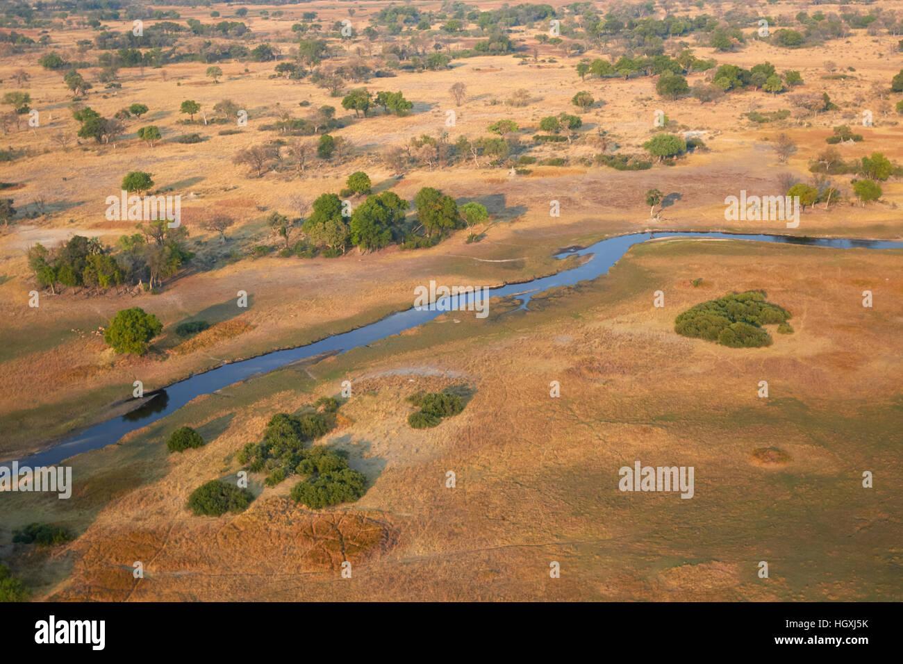 Okavango Delta in the dry season, Botswana - Stock Image