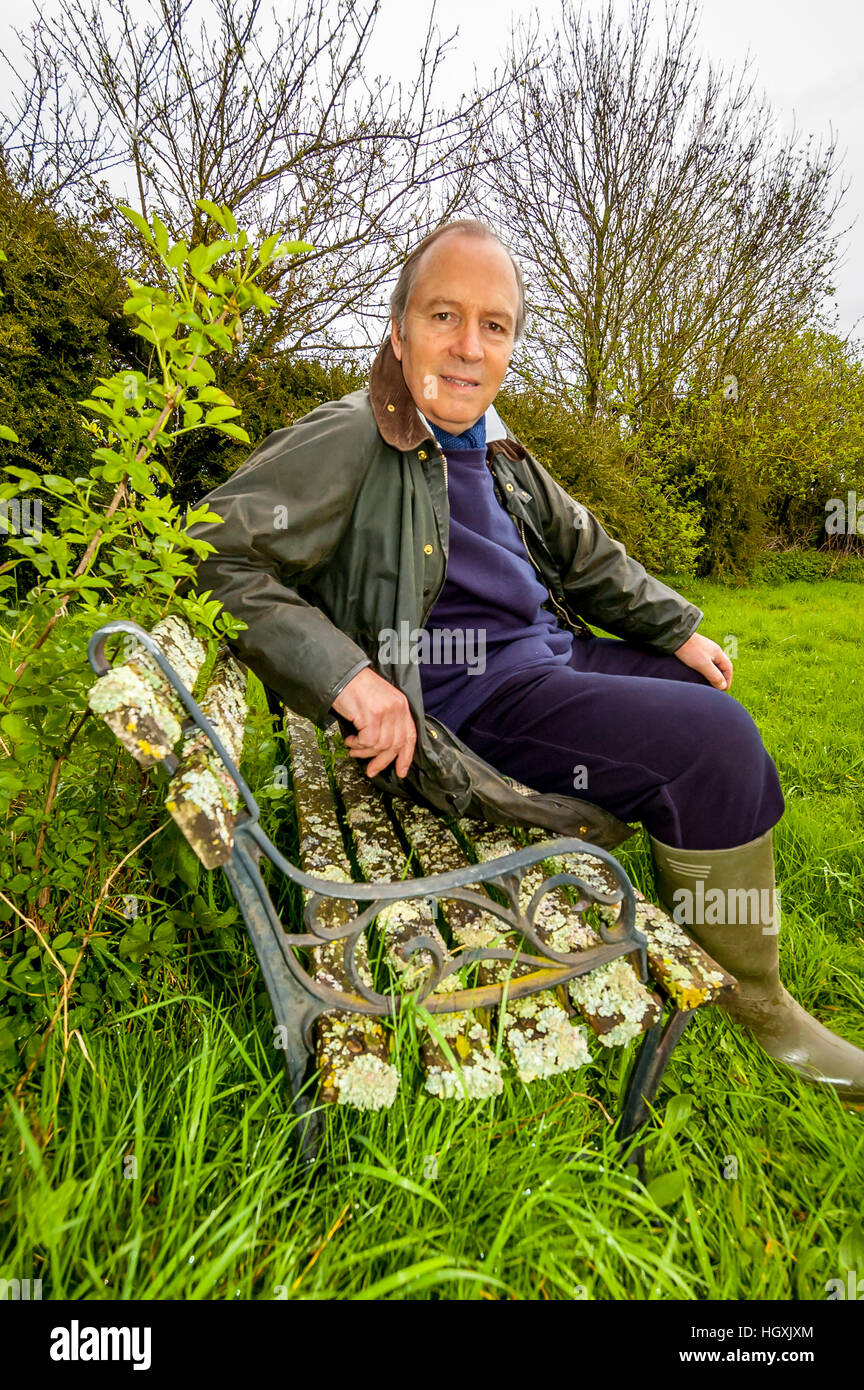 Actor Charles Collingwood, Brian Aldridge from 'The Archers', at home in Hampshire. - Stock Image