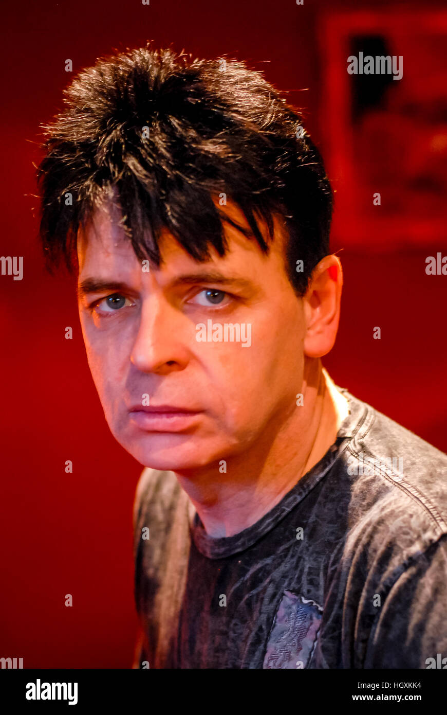 Musician Gary Numan, at home in Waldron, East Sussex. - Stock Image