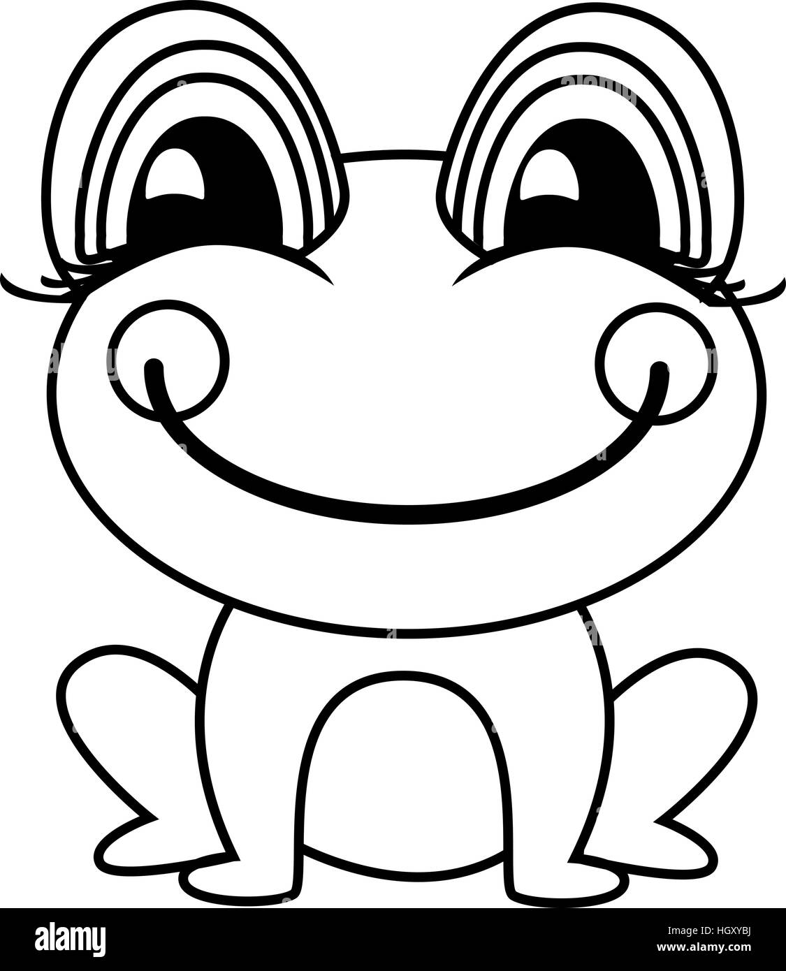 simple frog or toad vector illustration stock vector art rh alamy com Tree Frog Vector Cute Frog Silhouette