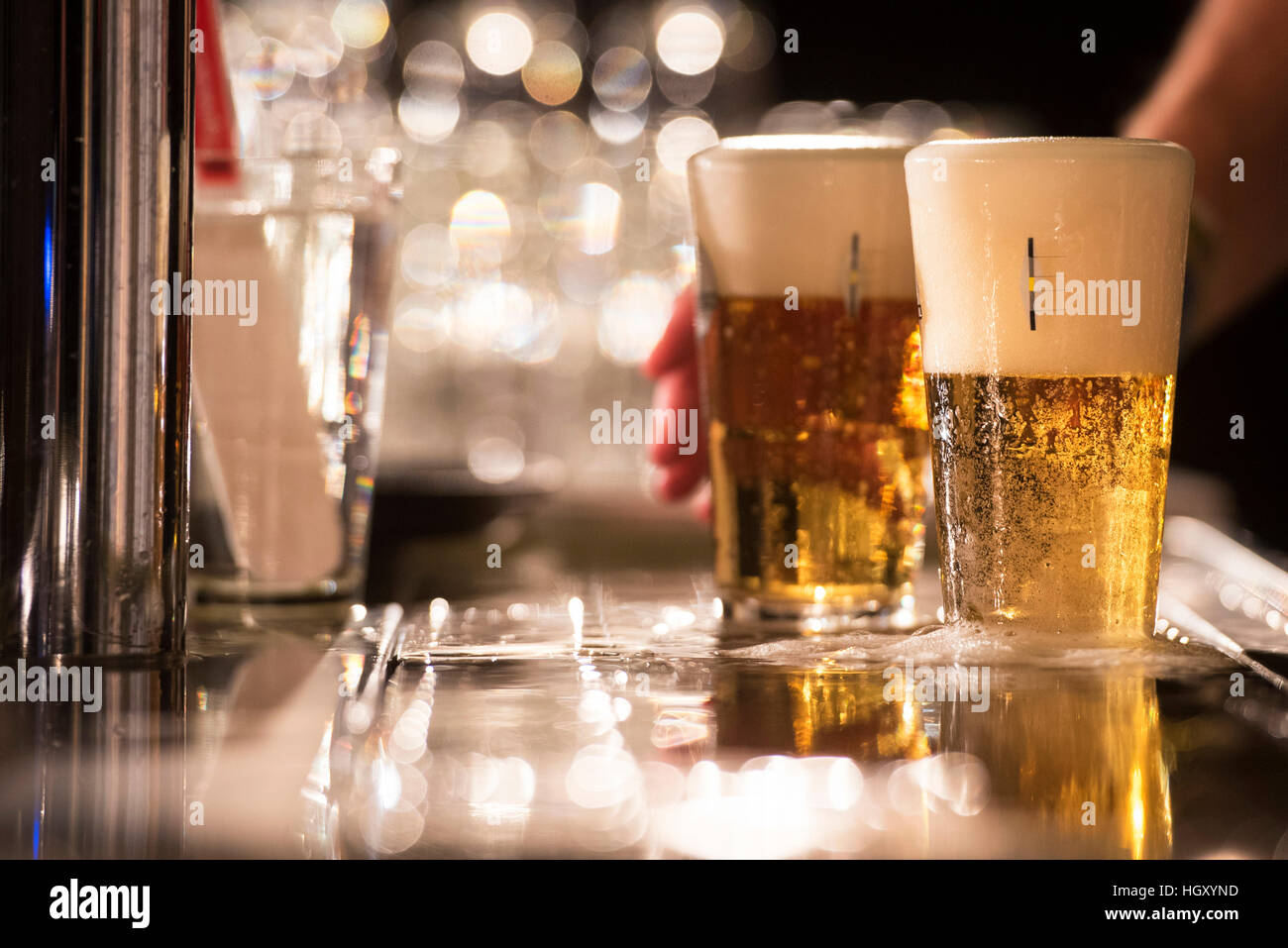 Amsterdam. 11-01-2017. Dutch Championship beer tapping. - Stock Image