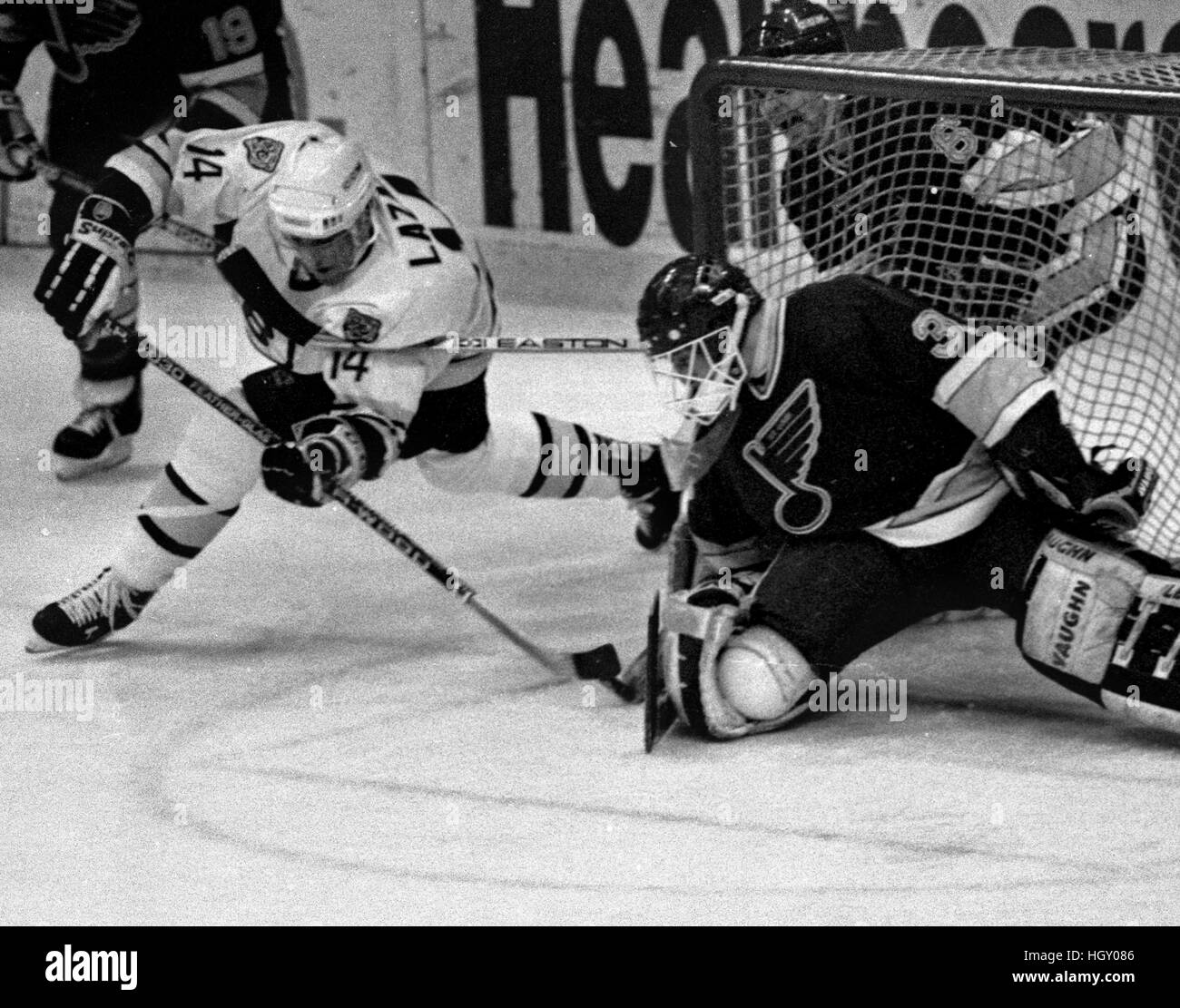 Vintage Hockey Black And White Stock Photos & Images