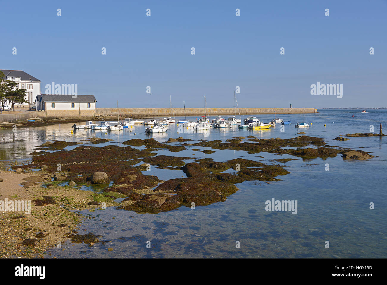 Little port of Le Croisic, a commune in the Loire-Atlantique department in western France Stock Photo