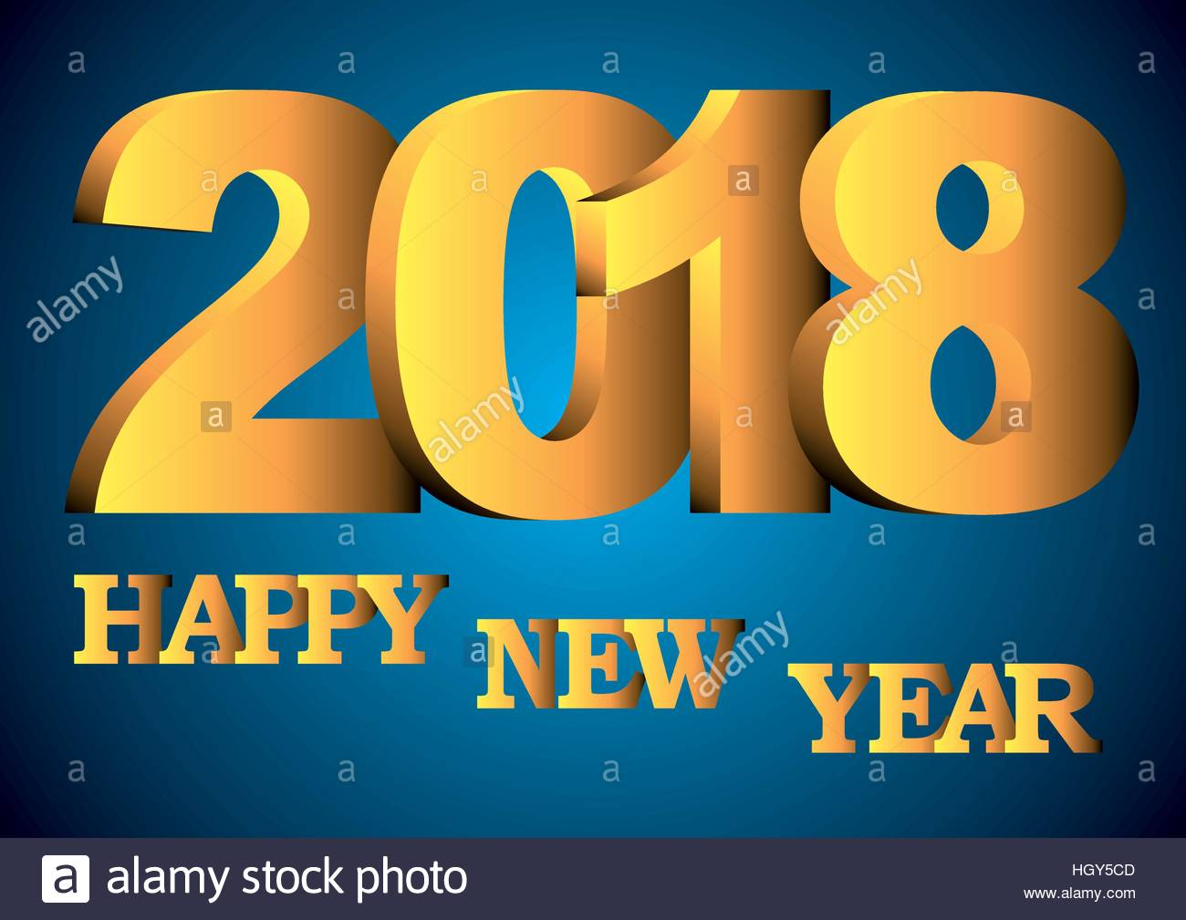happy new year 2018 greeting card with shiny shinygolden numbers and letters