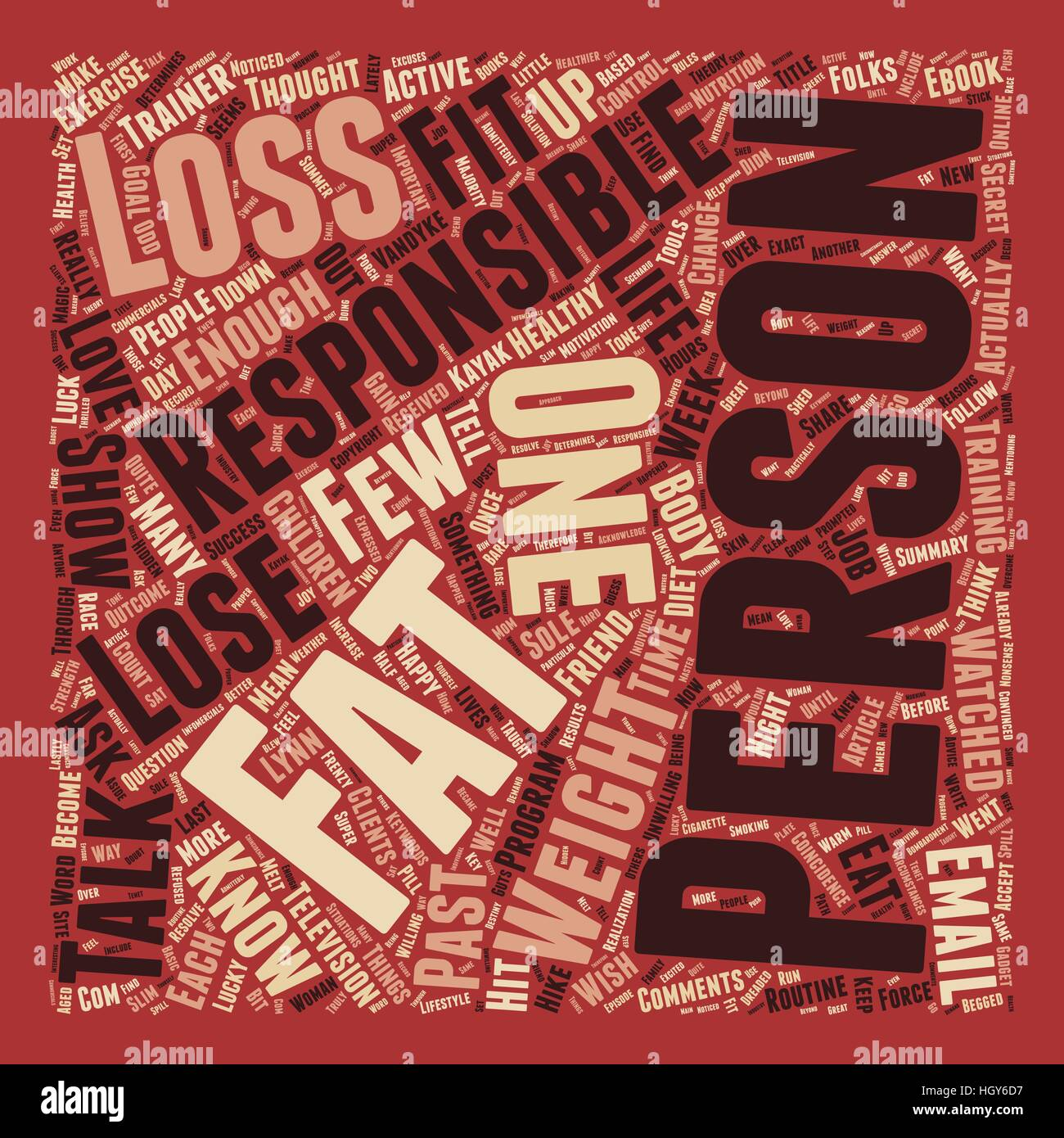 Are You Responsible Enough to Lose Fat text background wordcloud concept - Stock Vector