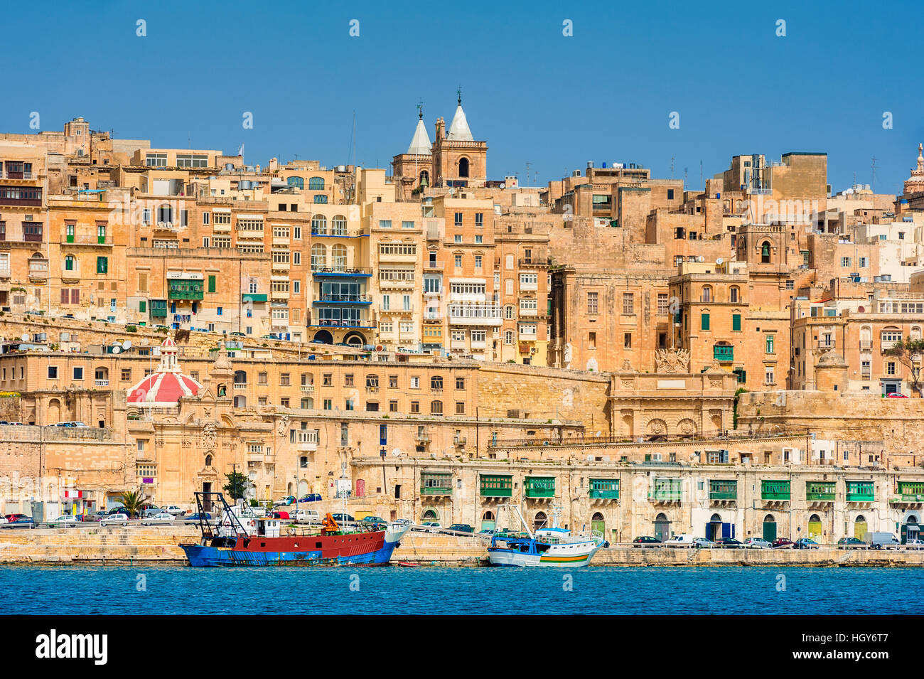 Fortified city of Valletta Malta - Stock Image
