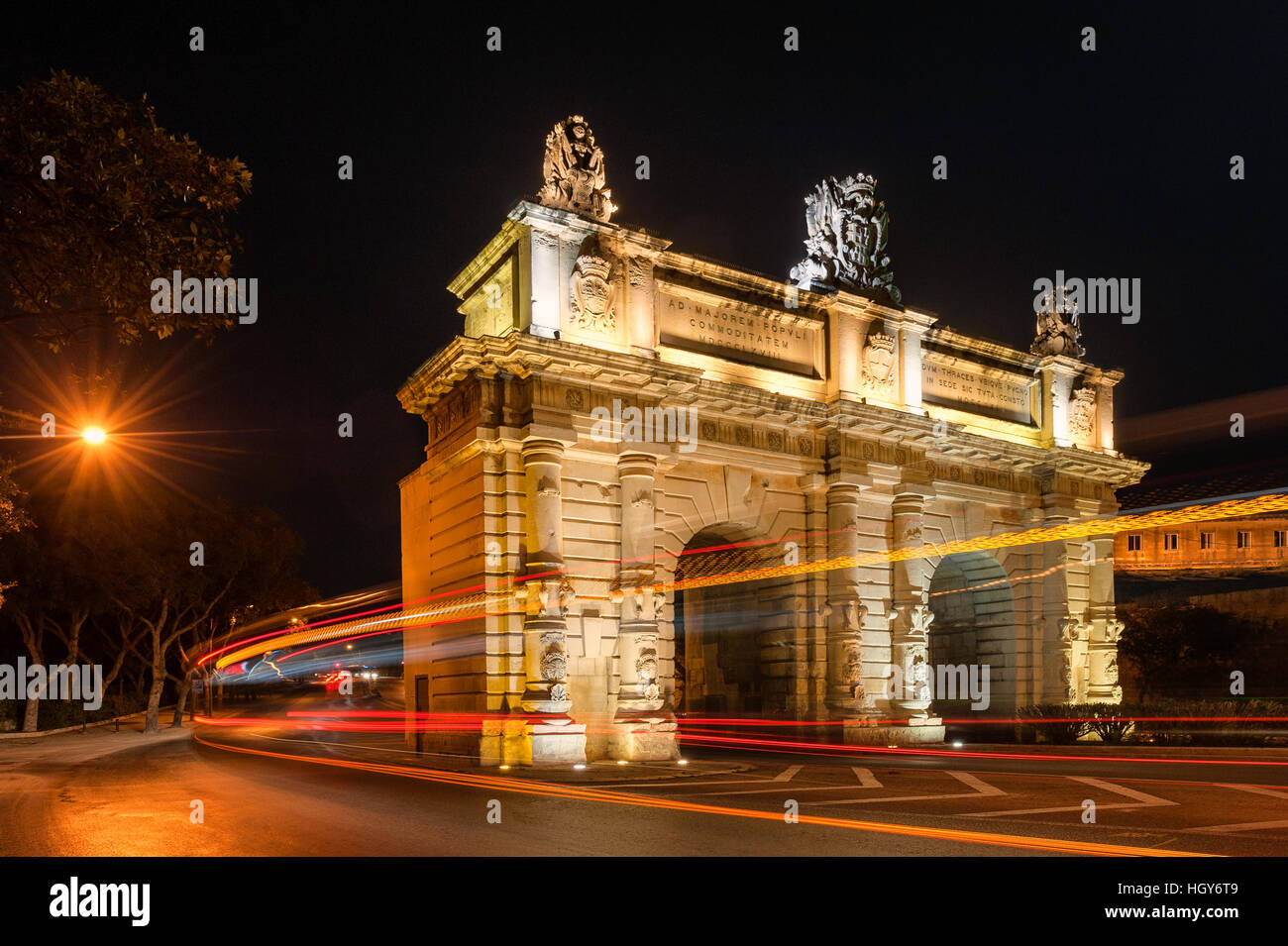 Bombs' Gate in Floriana Malta - Stock Image