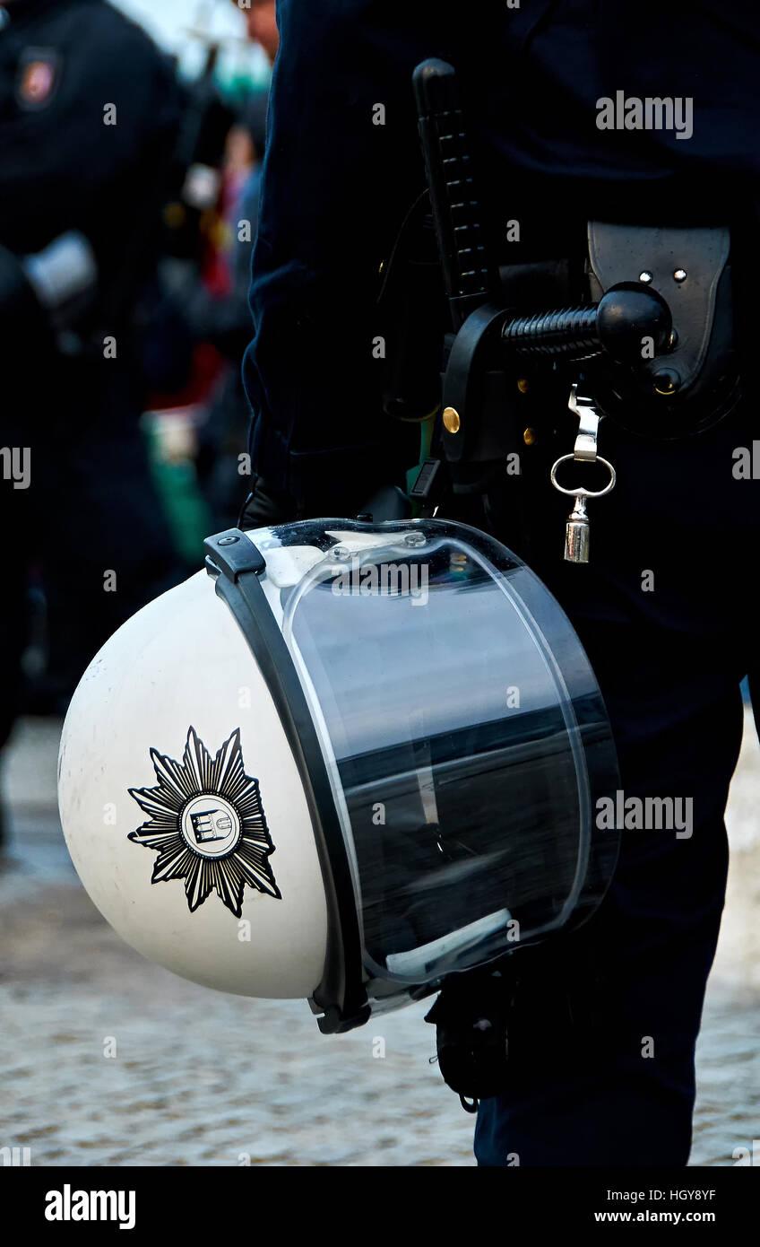 Polizei Helm - Stock Image