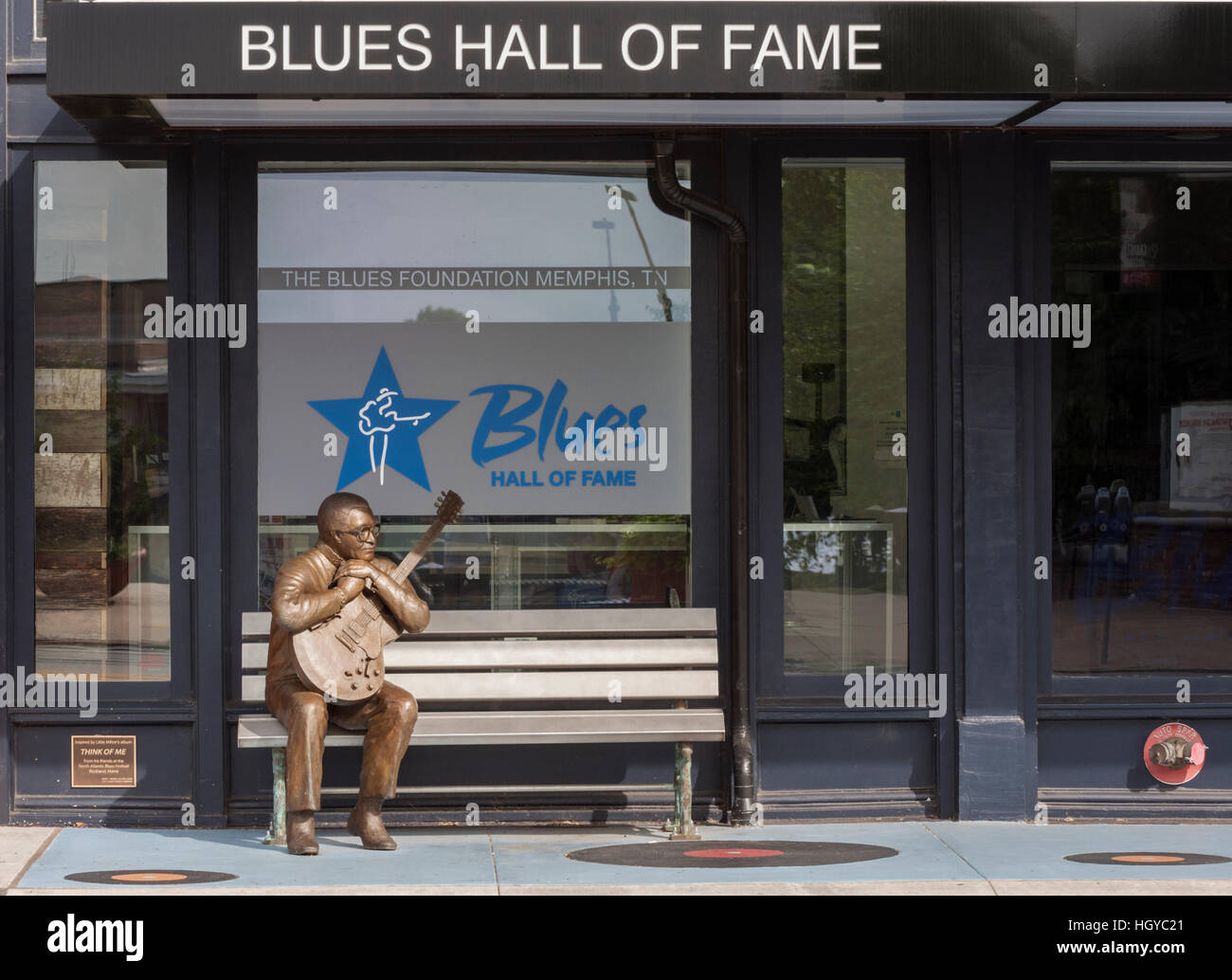 Blues Hall of Fame, downtown Memphis, Tennessee, USA - Stock Image