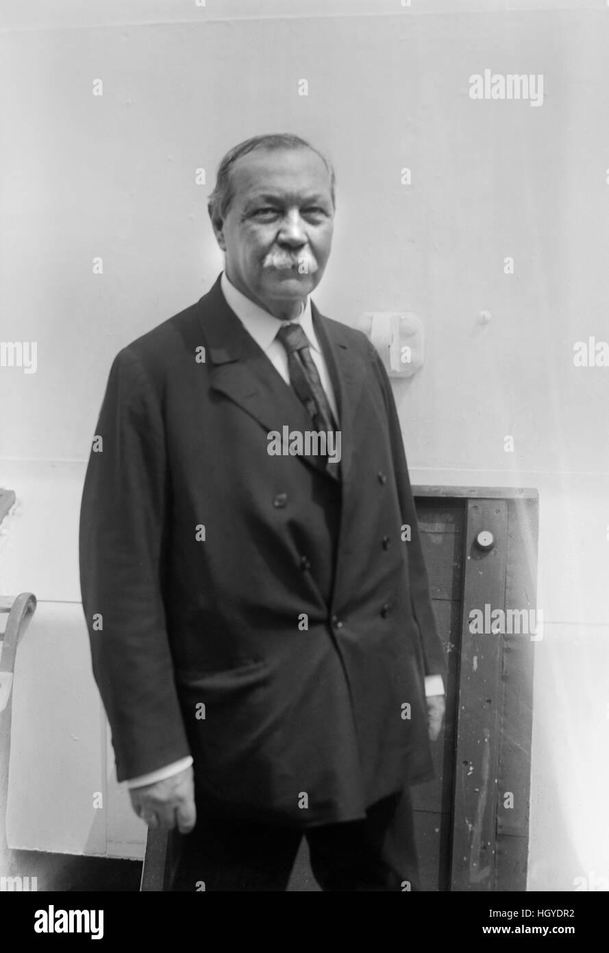 Sir Arthur Conan Doyle, Portrait, Bain News Service, February 1930 - Stock Image