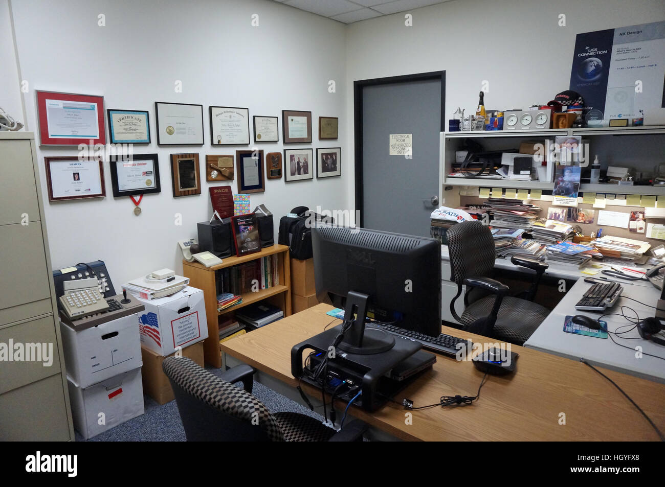 Cluttered Office - Stock Image