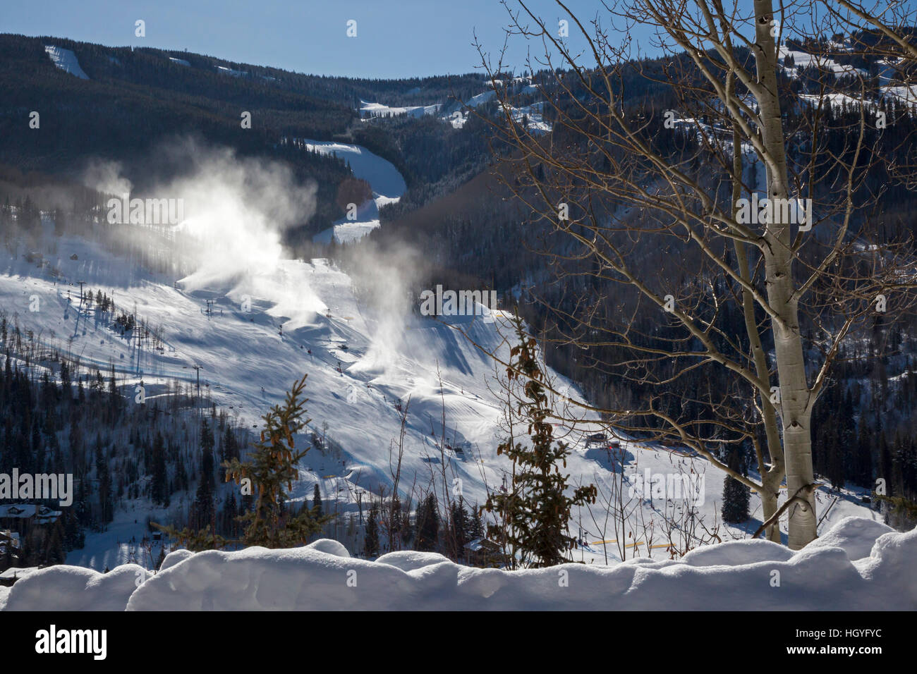 Vail, Colorado - Snowmaking at Vail Ski Resort - Stock Image
