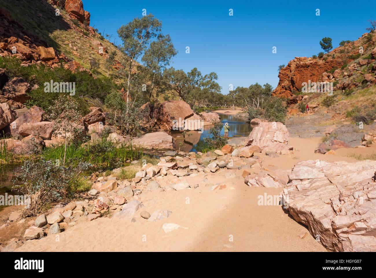 Simpsons Gap, MacDonnell Ranges, Australia - Stock Image