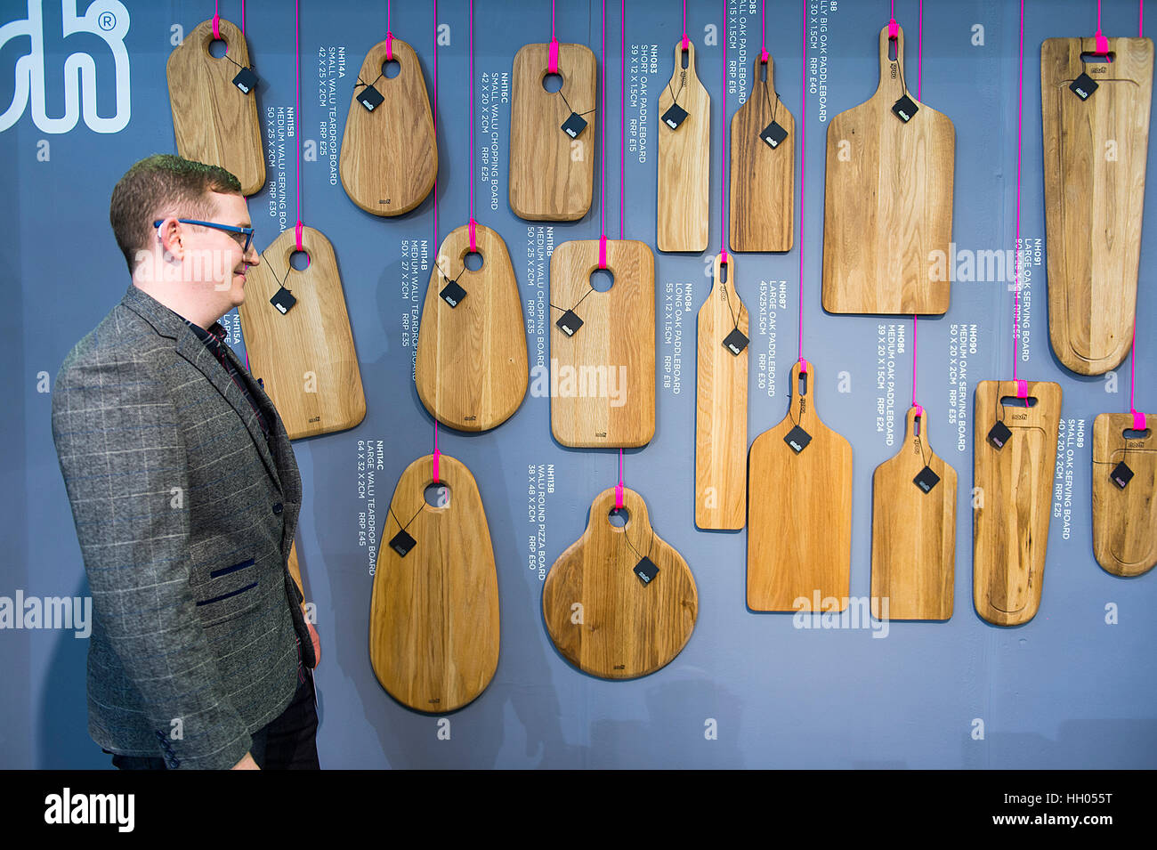 Olympia, London, UK. 15th January, 2017. Top Drawer design show for creative retailers opens at Olympia, bringing - Stock Image