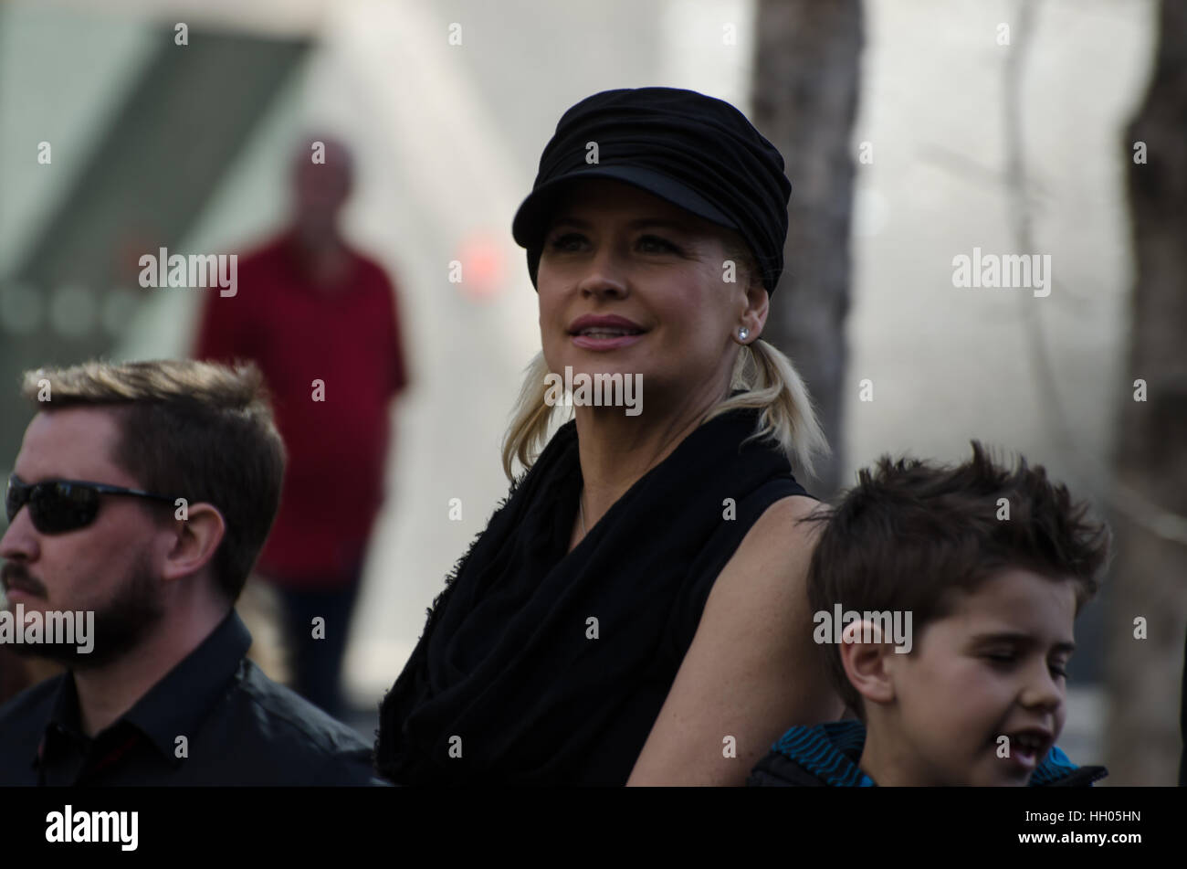Calgary, Alberta, Canada, April 24 2014: Kristy Swanson aka Buffy the Vampire Slayer Comic and Entertainment Expo - Stock Image