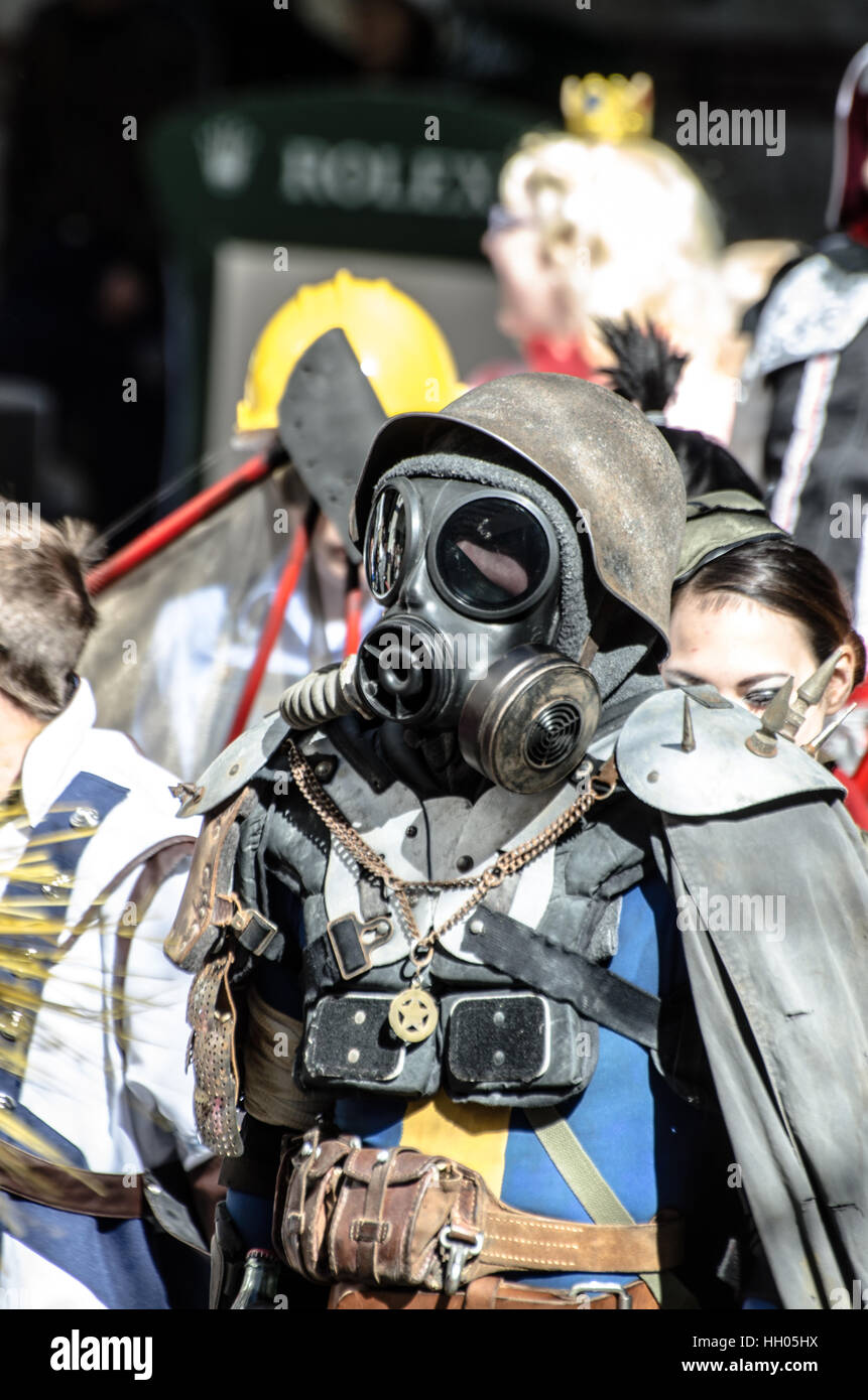 Calgary, Alberta, Canada, April 24 2014: Comic and Entertainment Expo Parade Comic Book Cosplay from Fallout - Stock Image
