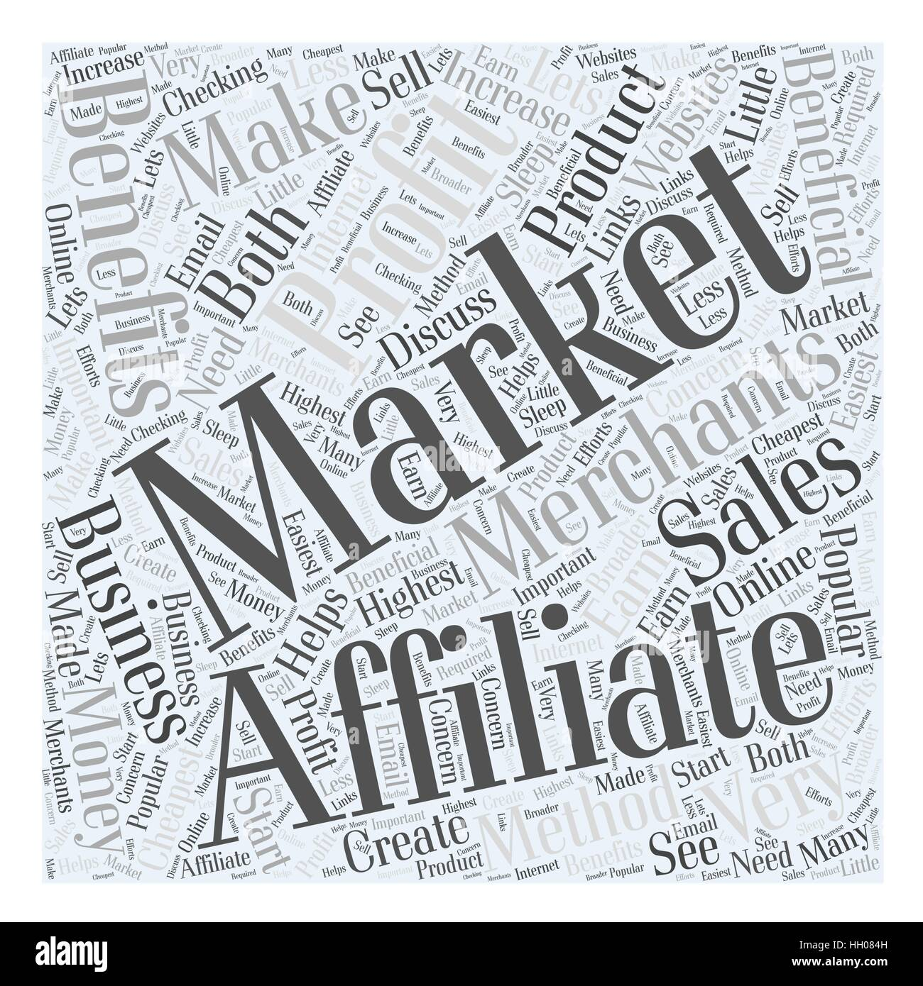 Benefits of Affiliate Marketing Word Cloud Concept - Stock Vector