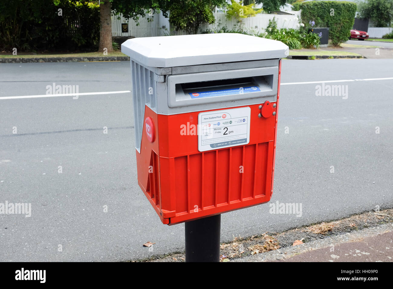 A post box in New Zealand. - Stock Image