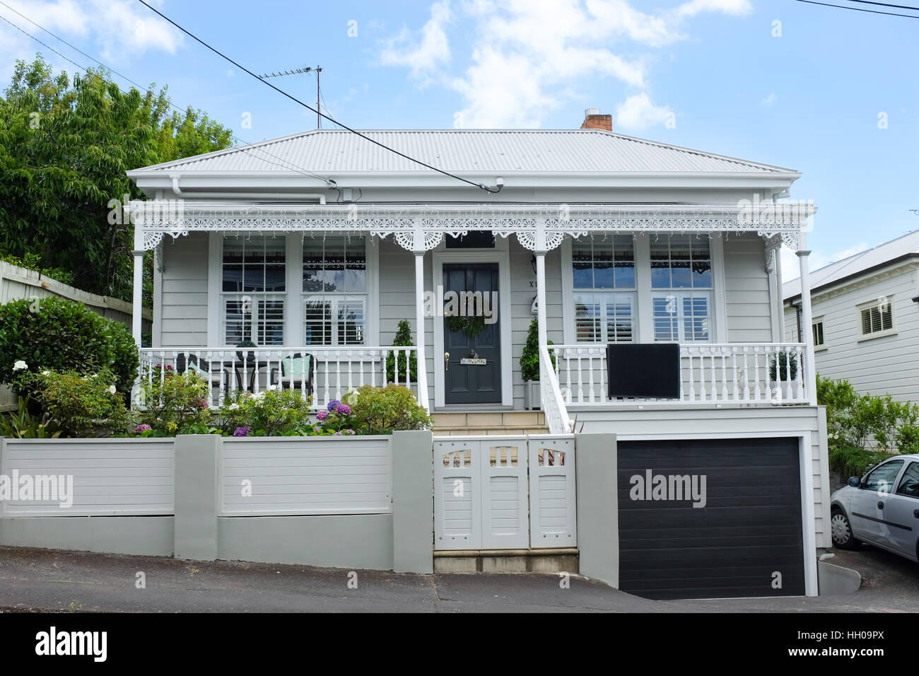A small house in Devonport, a suburb of Auckland, New Zealand. Stock Photo