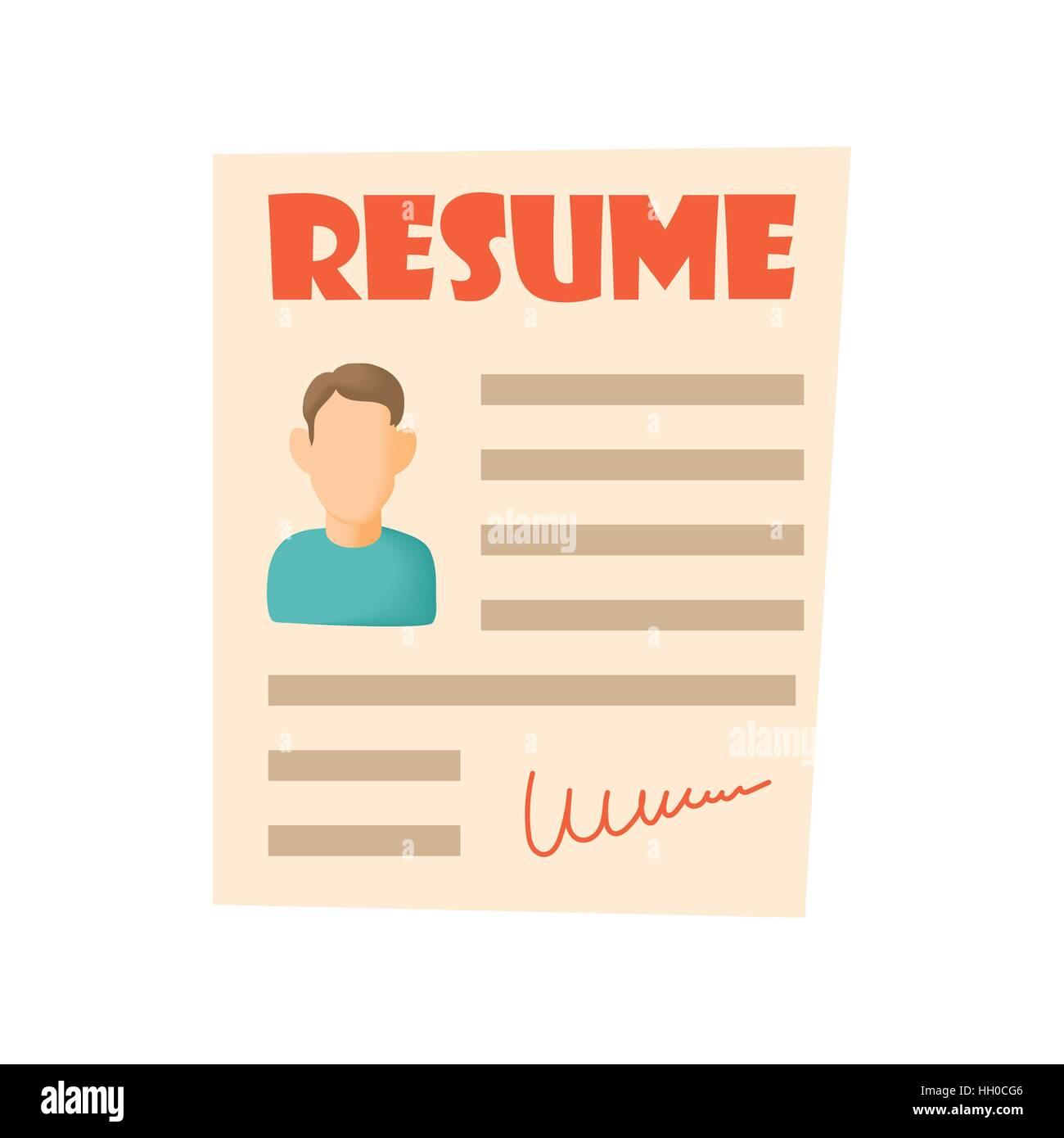 resume icon cartoon style
