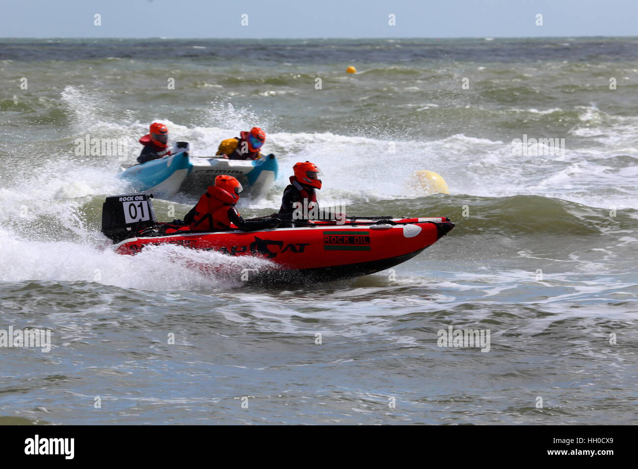 Zapcat offshore RIB circuit racing at Sandbanks Poole UK - Stock Image