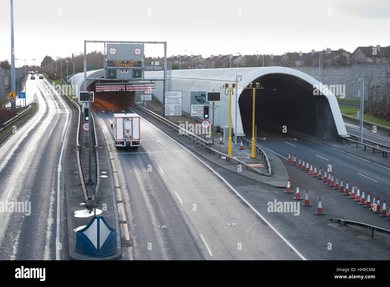 Dublin Port Tunnel, Dublin, Ireland - Stock Image