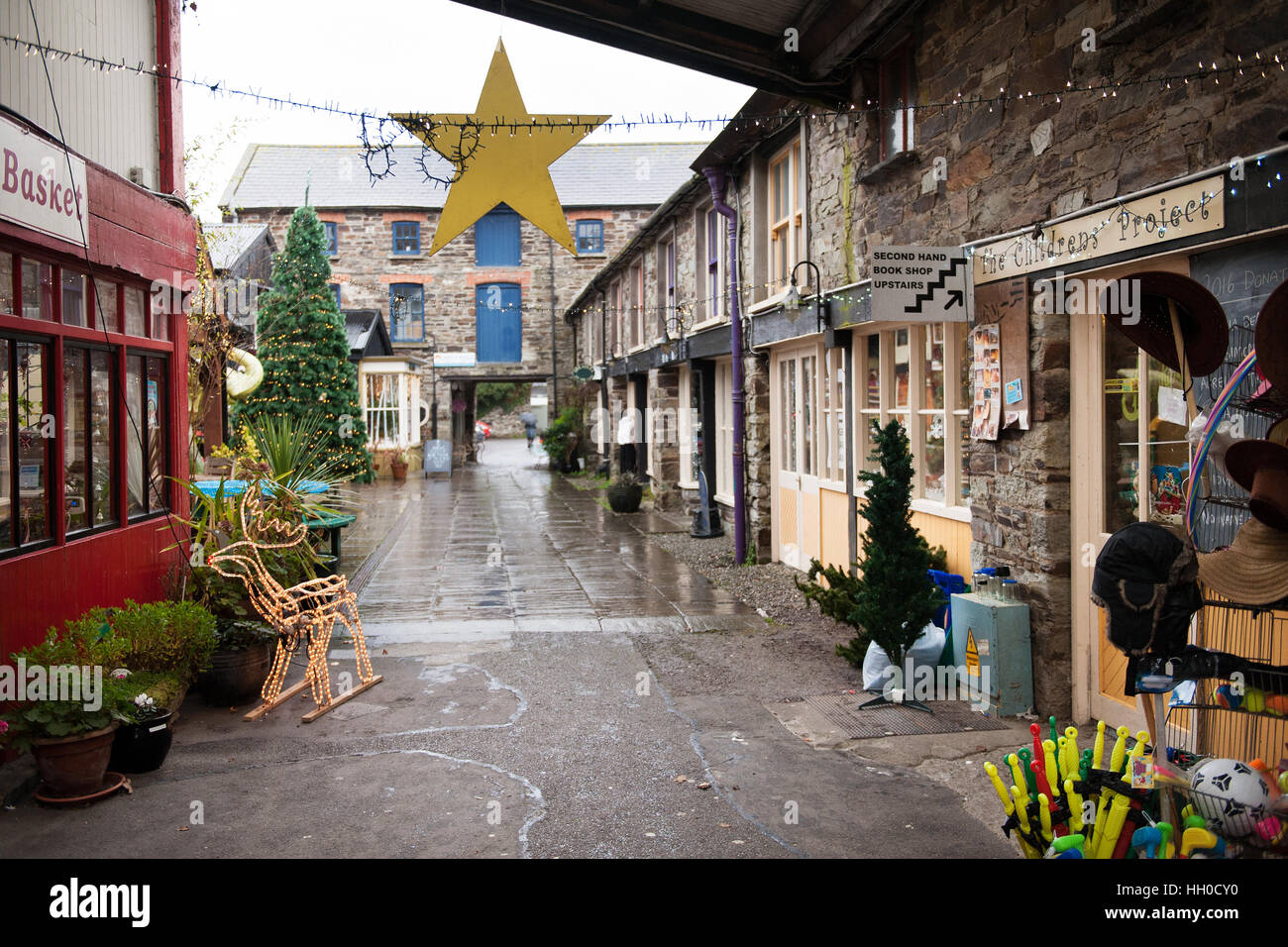 Spillers Lane shopping area in Clonakilty, West Cork, Ireland - Stock Image