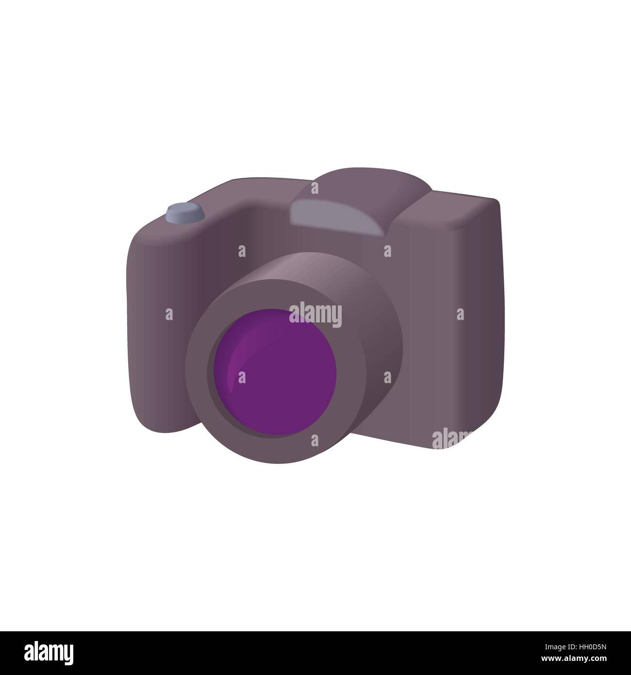 SLR camera icon, cartoon style - Stock Vector