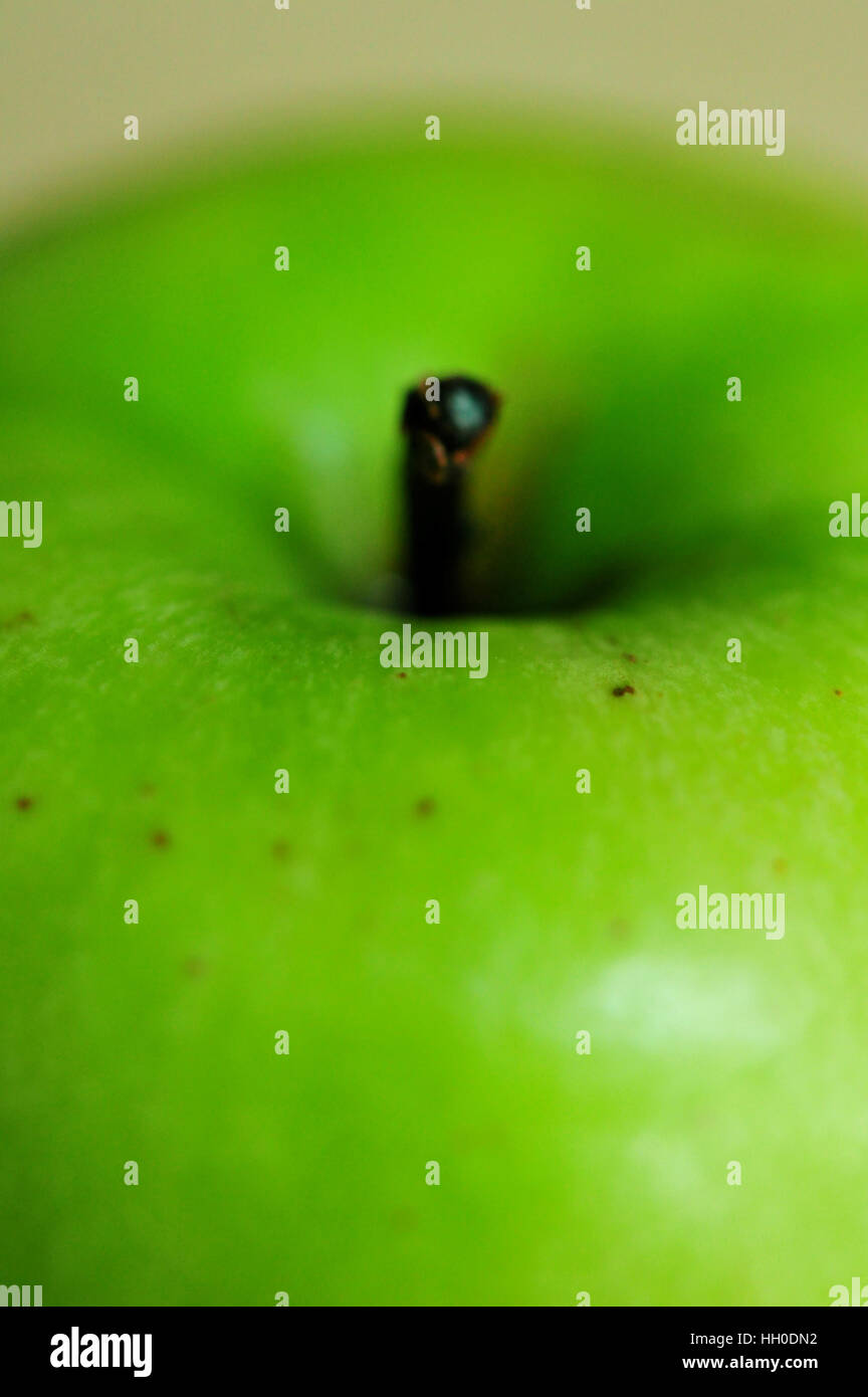 Close up of green apple, selective focus - Stock Image