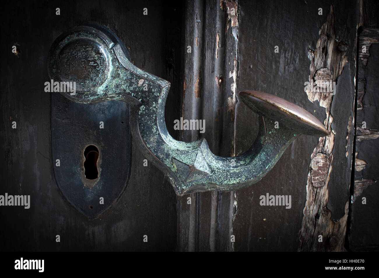 A door handle at a Museum. - Stock Image