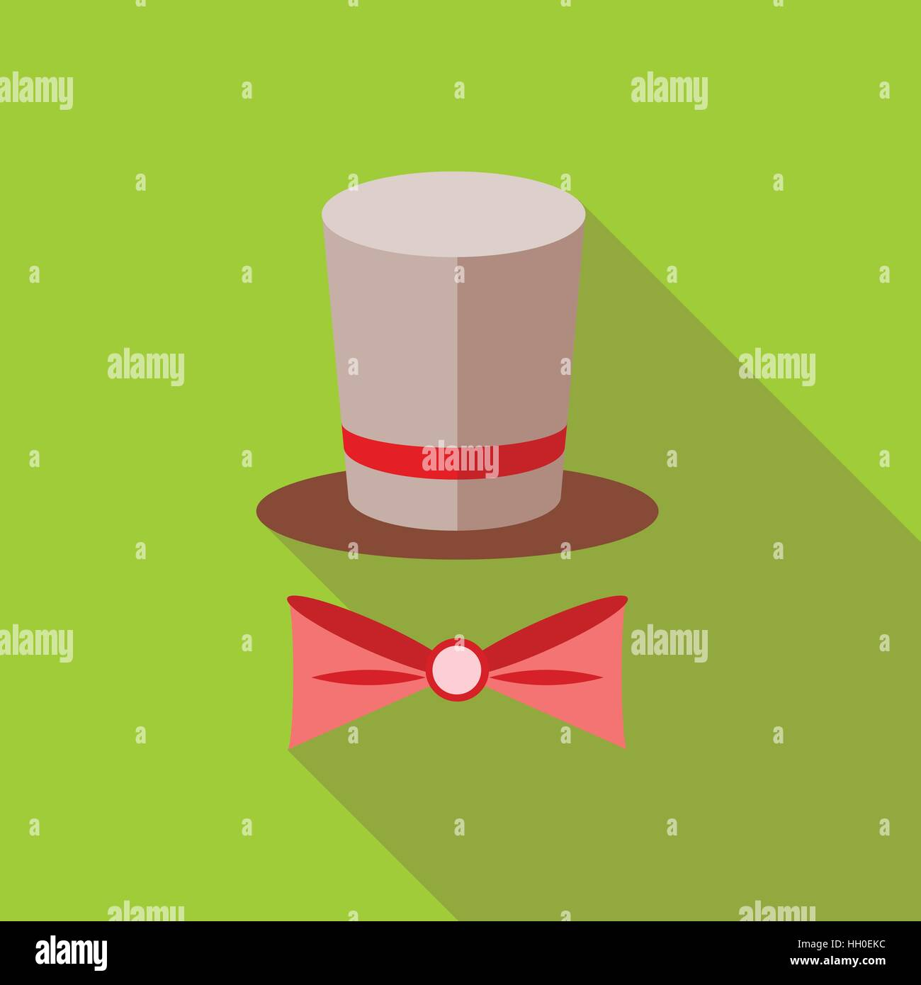 Top hat and bow tie icon flat style stock vector art illustration top hat and bow tie icon flat style voltagebd Choice Image