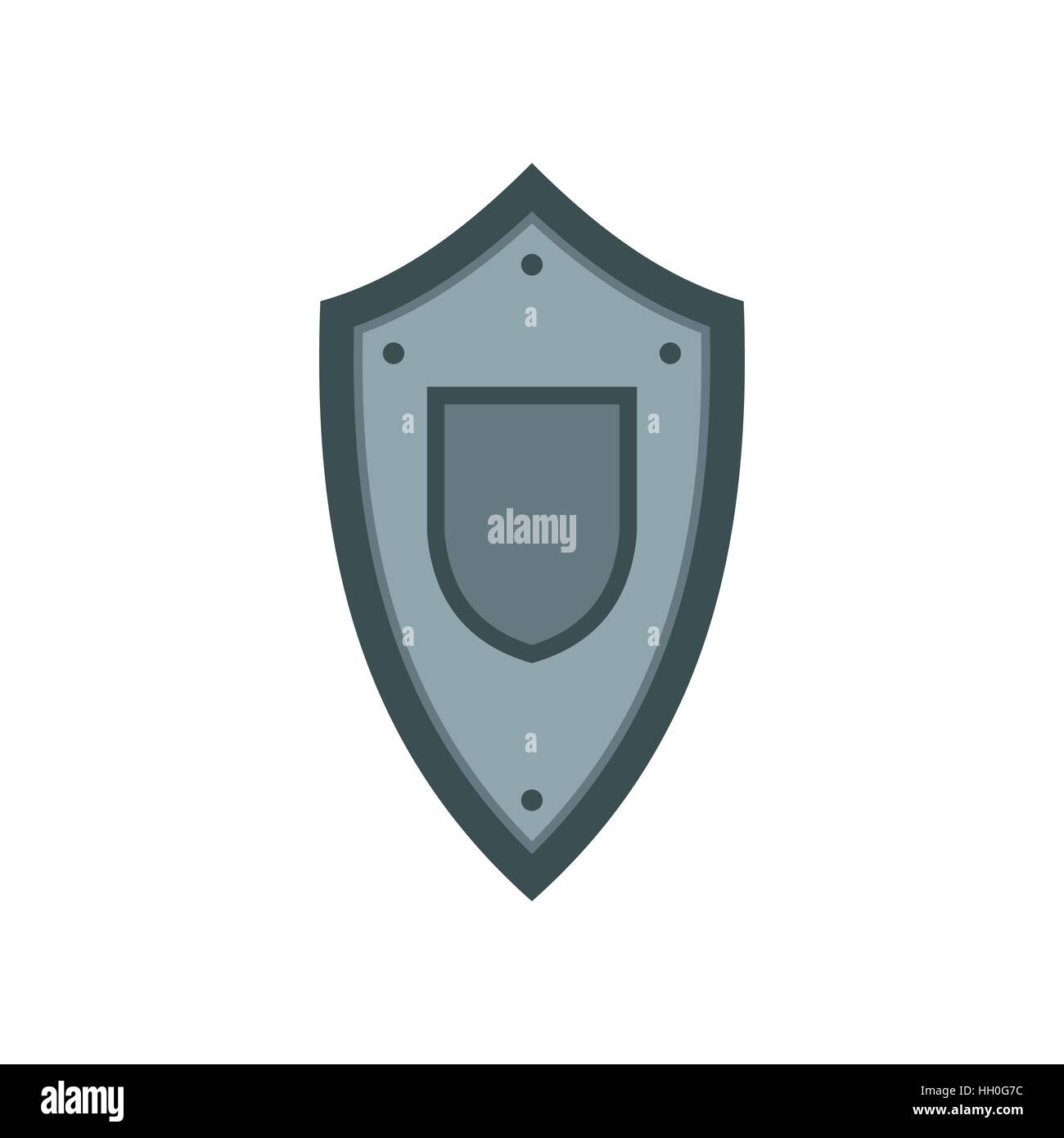 Metal medieval shield icon, flat style Stock Vector Art ...