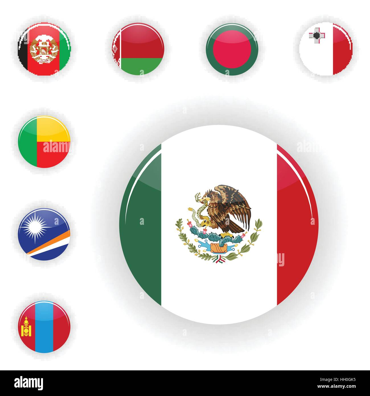 Flags set of the world - Stock Vector