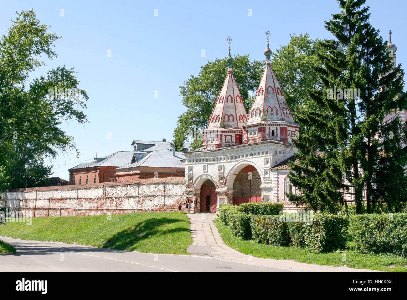 Holy gates of the Monastery of the Deposition of the Robe, Russia, Suzdal - Stock Image